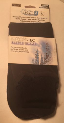 Storm -Tec Fleece Socks Unisex Size Large Black