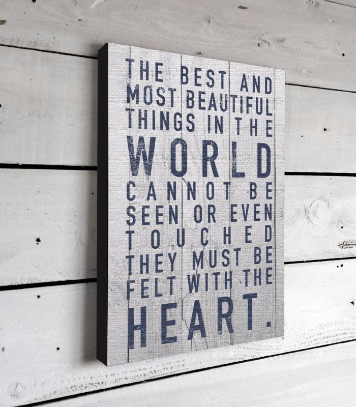 Inspirational Quotes Canvas Sign Print Wall Art Poster Home Decor Vintage Wood