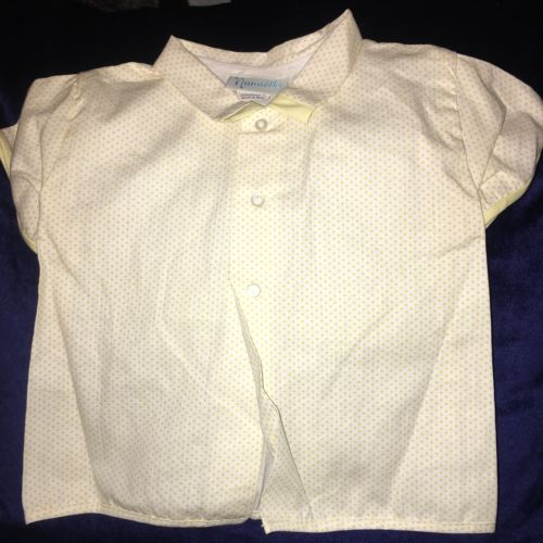 Vintage Nanette Infant Shirt In Yellow 13-20 Lbs