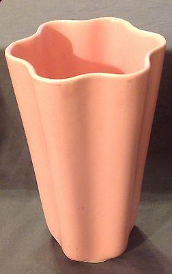 Vintage pink matte Kenwood Art Pottery Vase
