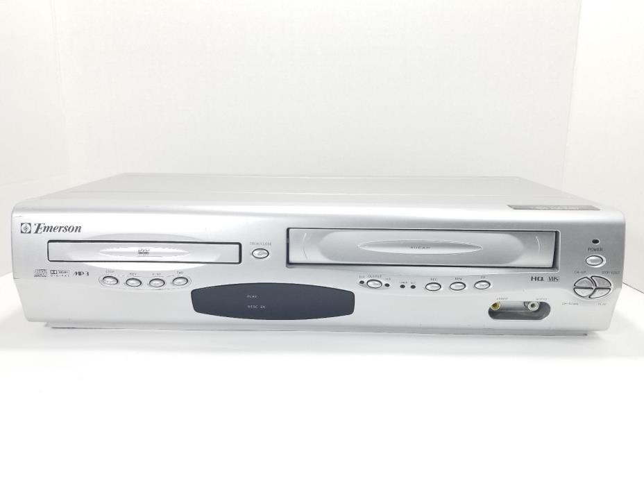 Emerson EWD2203 VCR VHS DVD CD MP3 Combo Player HQ 4 Head Tested no Remote