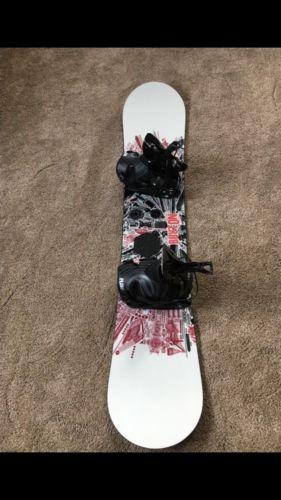 Burton TWC standard 54 snowboard 154cm Flow lite1 Bindings LG