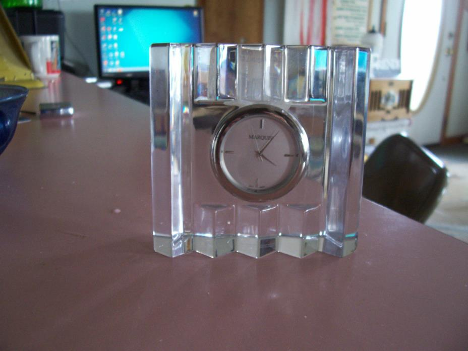 Waterford crystal small Marquis mantel clock