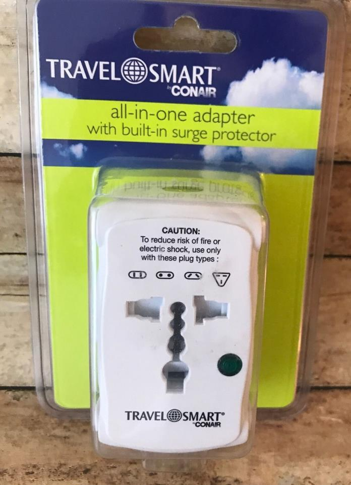 Conair Travel Smart All-In-One ADAPTER With Built-in SURGE PROTECTOR
