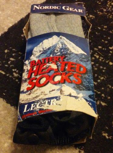NORDIC GEAR BATTERY HEATED MEN'S SOCKS SIZE LARGE  NEW