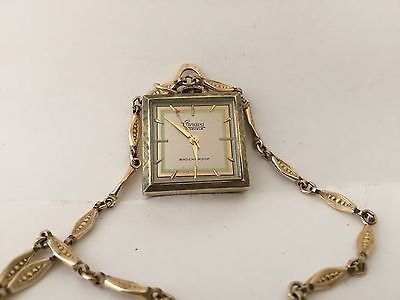 Vintage Canava 17 Jewels Necklace Watch