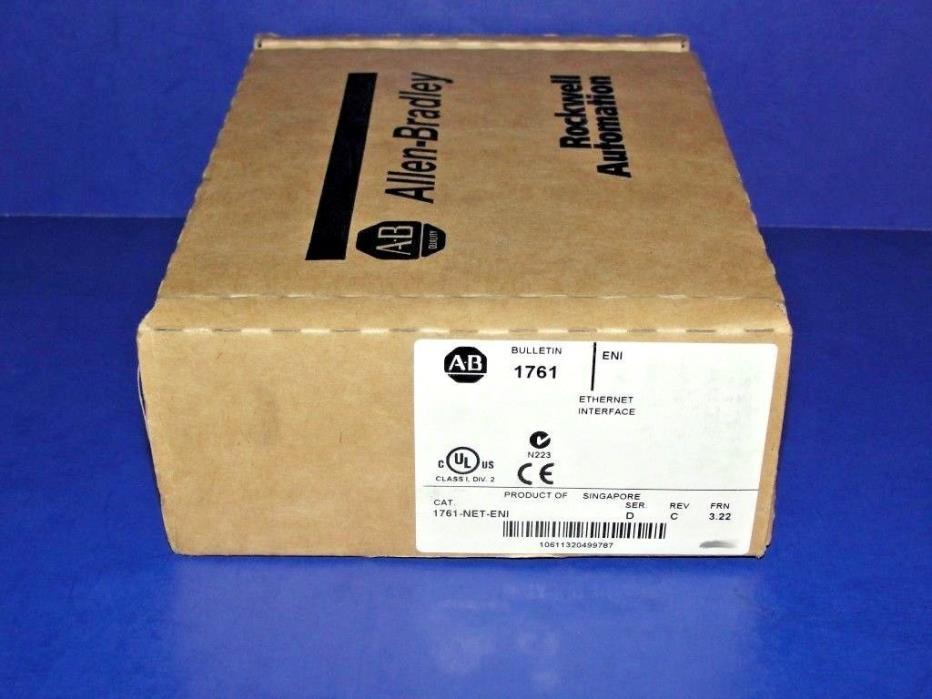 FACTORY SEALED Allen Bradley 1761-NET-ENI Series D  EtherNet Interface UNIT # 1
