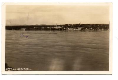 4821: SA Venezuela  CIUDAD BOLIVAR 1947 RPPC Real Photo Postcard w/stamp