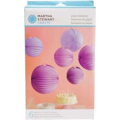 Accordion Paper Lanterns Makes 6 Purple 015586937213