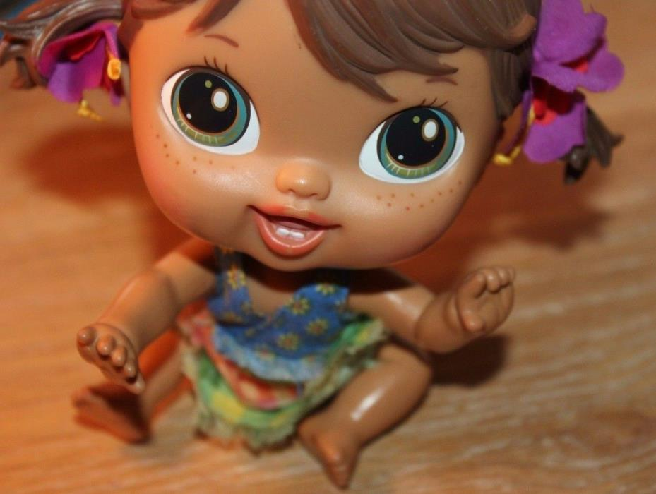 Retired 2010 Crib Life Baby Alive Haily Hula Doll By Hasbro 6 inches
