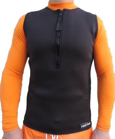 Men's 2.5mm Wetsuit Vest, Pullover, Half- Zipper, sizes: Medium-2XL, New-Sale