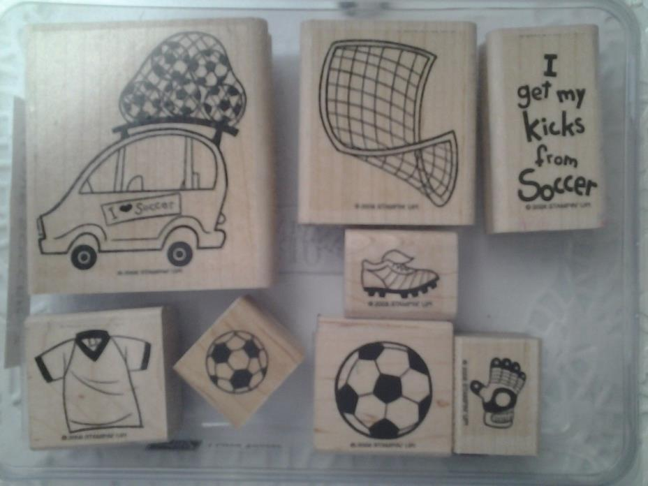 Soccer Stampin' Up set rare HTF in original case w/extras