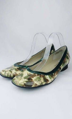 BELLINI  OMYRA WOMENS SHOES BALLERINA FLAT GREEN FLORAL SZ 11W