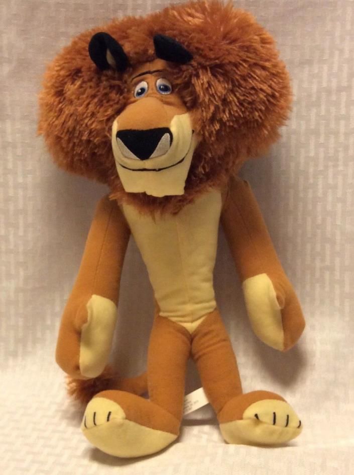 "ALEX THE LION MADAGASCAR DREAMWORKS MOVIE PLUSH 15"" TOY FACTORY"