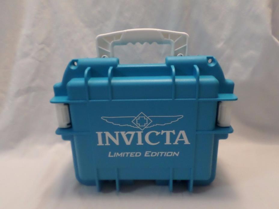 Invicta 3 Slot Aqua Blue Limited Edition Impact Resistant Case Waterproof