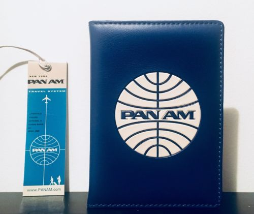 PAN AM Originals Passport Cover Holder - Royal Blue w/ White Logo **BNWT**