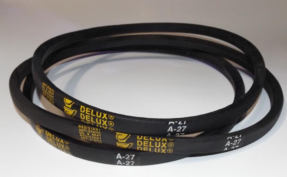 3 Pack Delux A27 or 4L290 V Belt  1/2 x 29in  Vbelt 29