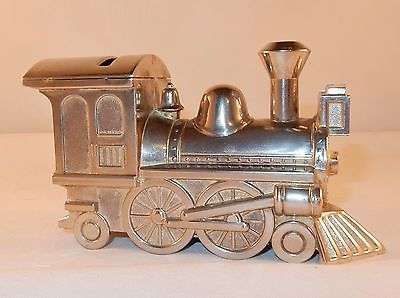 Railway Steam Engine Locomotive Still Coin Bank - Metal With Stopper