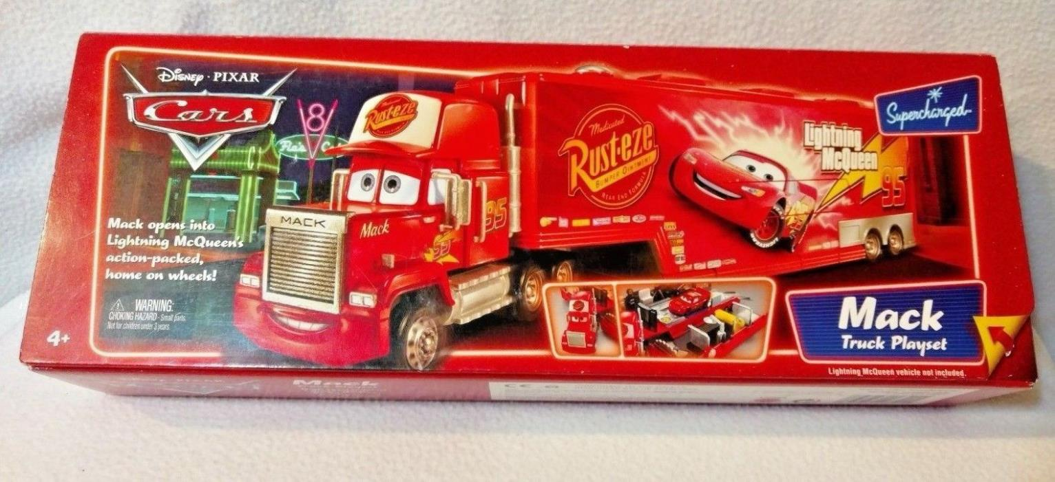 Disney Pixar Cars Mack Truck Supercharged Play Set Playset L4069. New in Box!