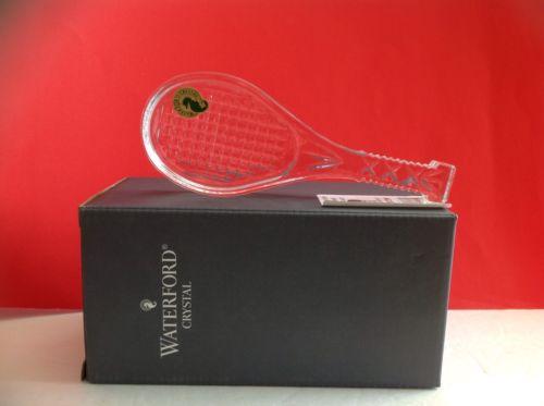 WATERFORD PAPERWEIGHT  Wimbledon Tennis Racket 127572W NIB   CHRISTMAS SPECIAL
