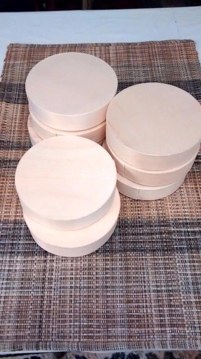 8~Unfinished Wood Small Boxes~Gifts~Wedding~Favors~Decorate