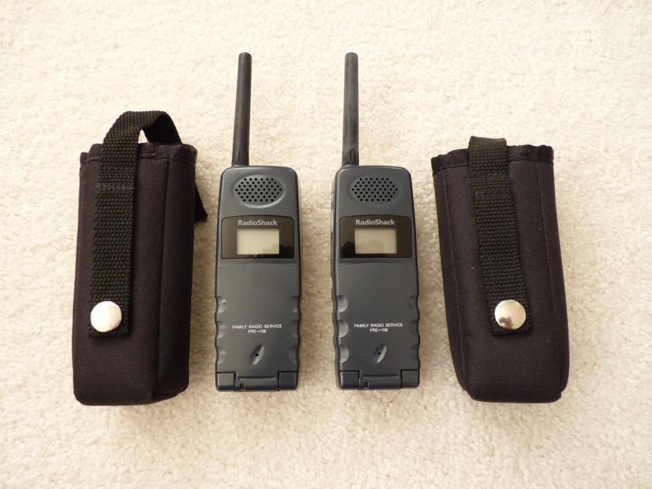 2 RadioShack RADIO SHACK Flip Style 2-Way FRS-106 Family Radios Cat. 21-1806