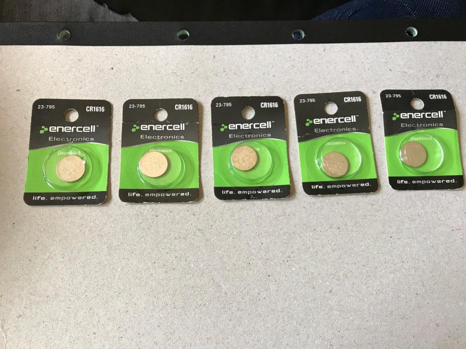 (Lot of 5) ENERCELL  23-795 CR1616 WATCH BATTERY 23-795