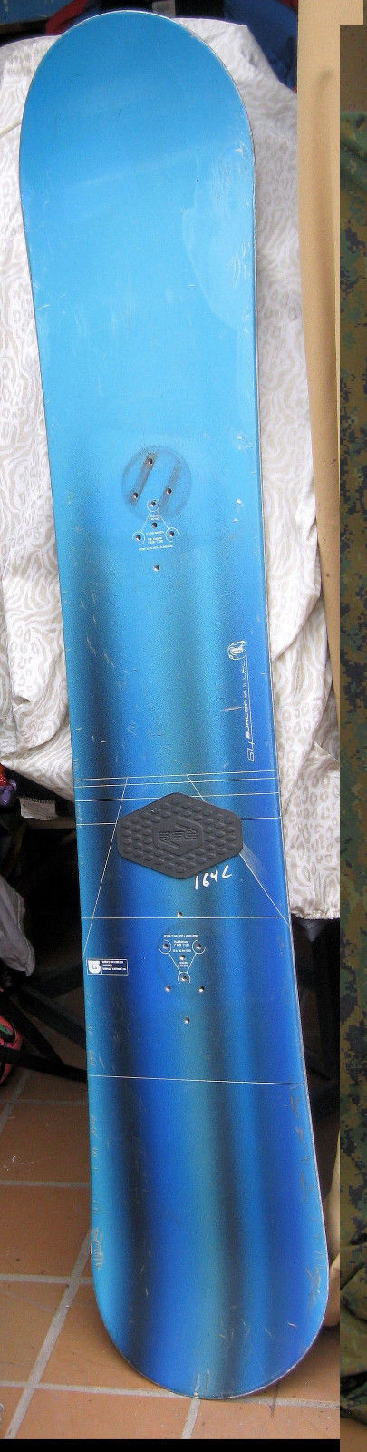 Burton Bullet Snowboard  164 CM Snow Board w/ Stomp Pads Laminate Peeling