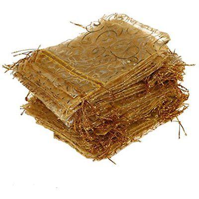 Gift Baskets 100pcs Organza Bags-Tojwi 3.5