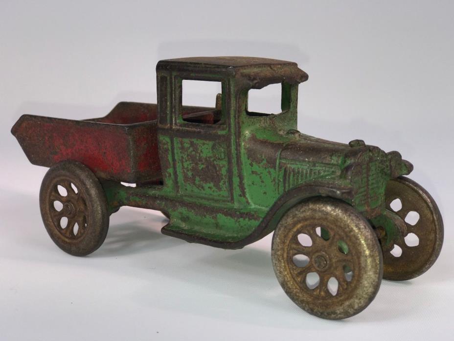 Original 1920's Arcade Cast Iron Model AA Dump Truck 219 - Vintage Antique Toy