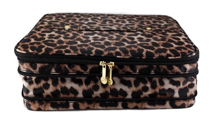NEW Joy Mangano  Jewel Kit - 2 Tier LEOPARD Expandable Jewelry Box