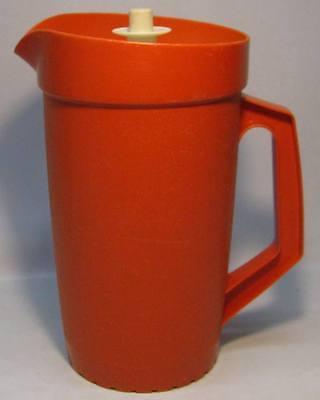 Vintage Orange Tupperware Push Lid Pitcher