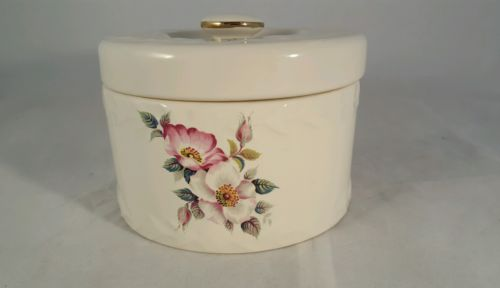 House Of Webster Vintage Briar Rose Pattern Covered Butter Dish