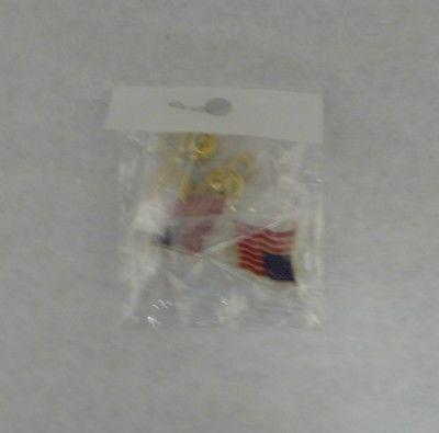 USA Flag and USA Ribbon Pins