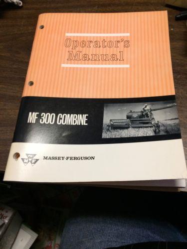 OEM Original Massey Ferguson No 300 Combine Operators Manual NICE!!