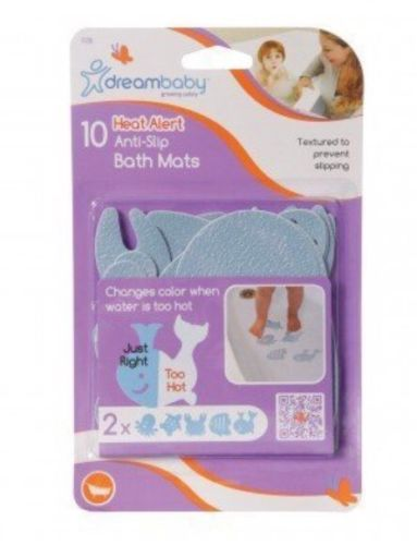 Dreambaby Heat Alert Anti-Slip Bath Mats 10 Pack