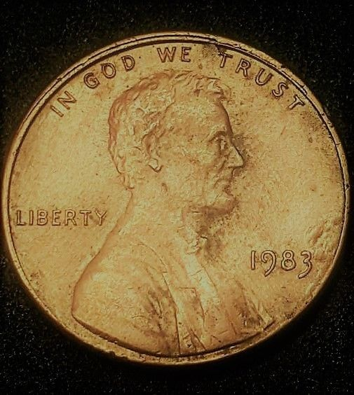 1983 No MINT MARK Lincoln Pennys