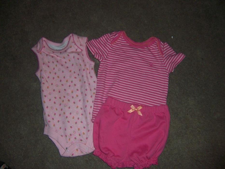size 3-6 months faded glory organice baby clothes lot new