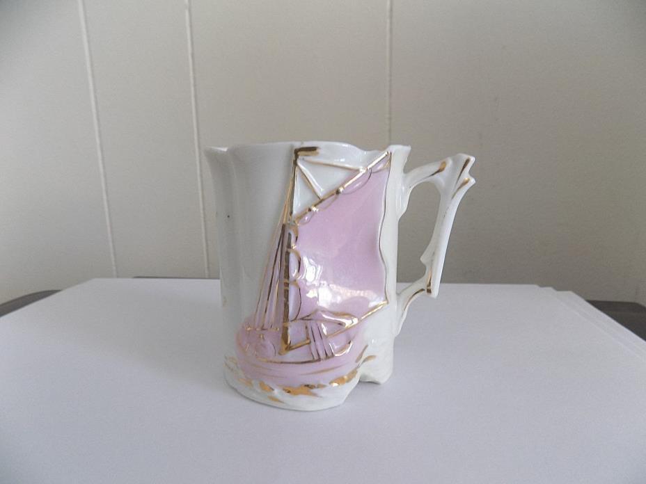 Antique Victorian Porcelain Souvenir Mug W/Sailboat-Memphis, Tenn.-Germany 281