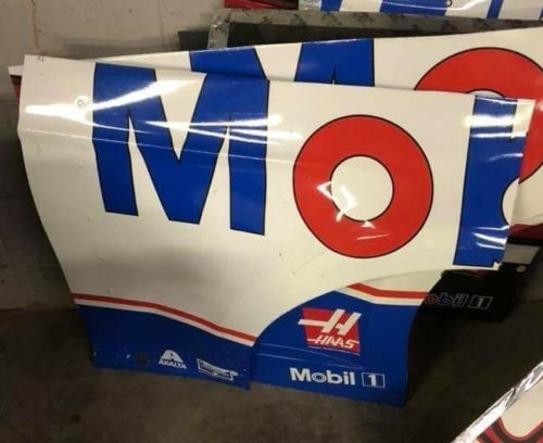 2017 Clint Bowyer NASCAR race used sheet metal Mobil 1 front quarter panel
