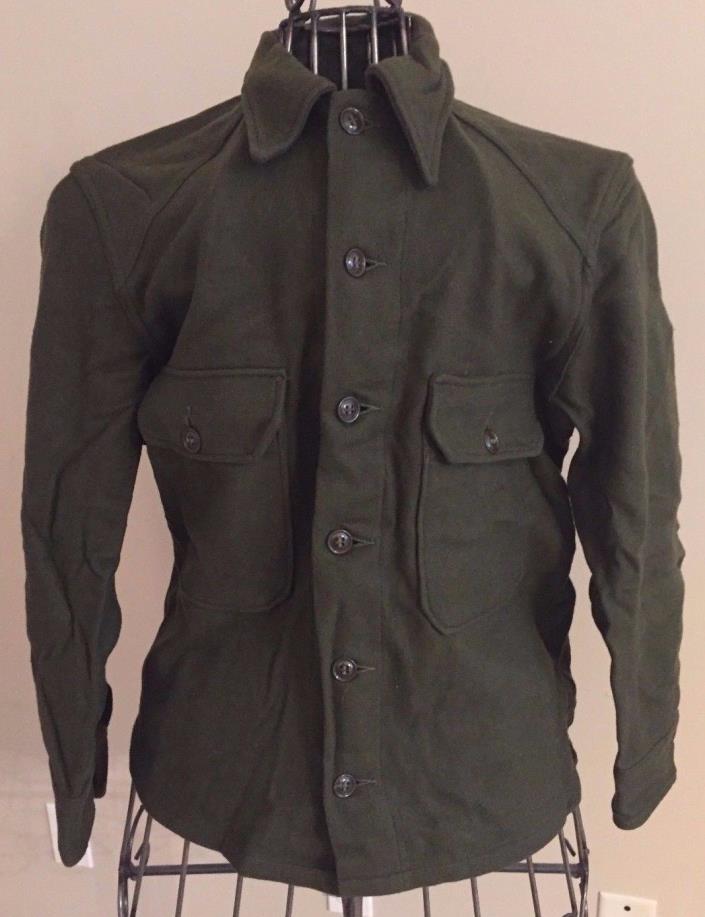 U.S. Military Surplus Korean War Era Wool Field Shirt, Medium