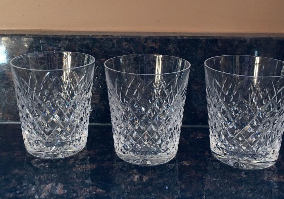 3 Waterford Alana Double Old Fashioned Glasses