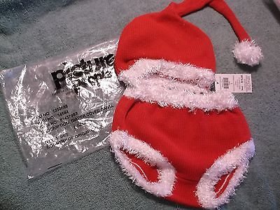 Picture People Christmas Santa Hat & Diaper Cover  Size Large  NEW