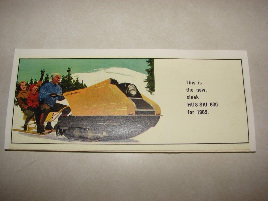 Vintage 1965 HUS-SKI 600 Snowmobile Brochure Reproduction