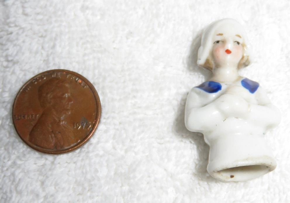 Antique Penny Porcelain No Chips/Cracks Dutch Half/Finger Doll Germany Porcelain