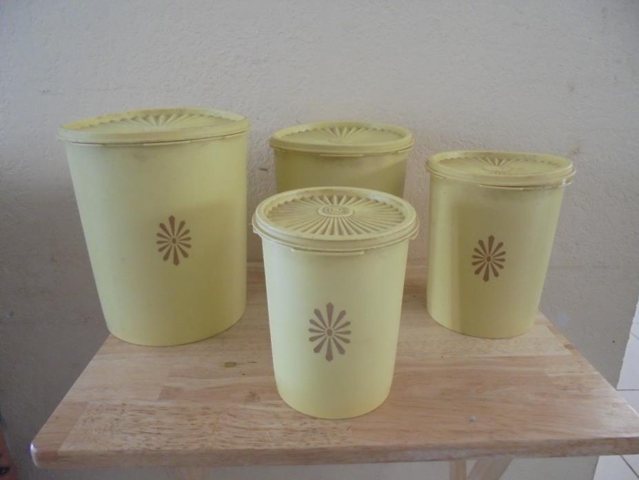 Vintage Retro Tupperware Canister Set