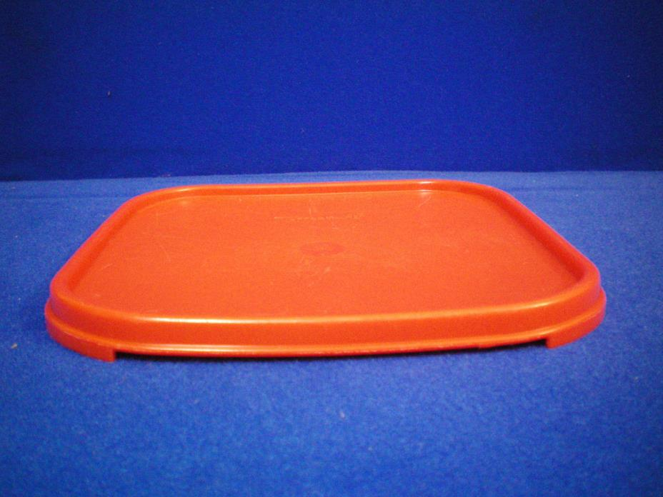 VTG Square MODULAR MATES  Replacement Lid #1623 paprika RED used FREE Shipping!