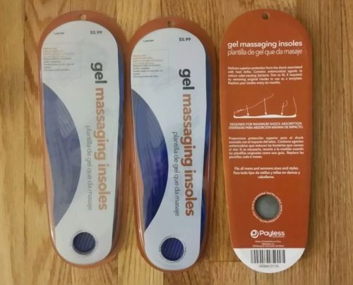 3 Pairs Massaging Gel Insoles, BRAND NEW as pictured