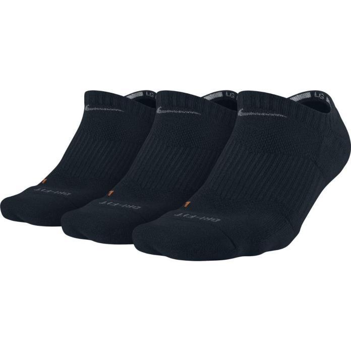 NIKE Dry Cushion No-Show Training Socks (3 Pairs) .  Large