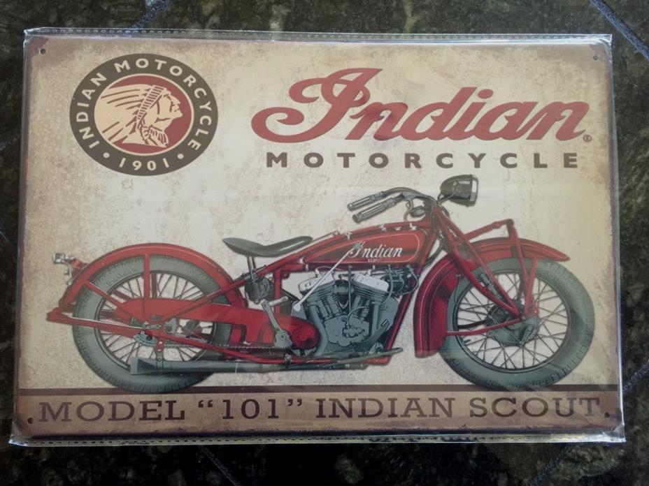 Indian Motorcycle  ~ Metal Sign  Man Cave Garage Repro Garage Rustic